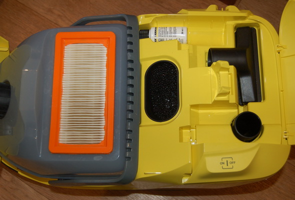 Karcher DS 5.800 с открытой крышкой.