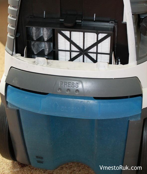 Фильтр задерживает всю пыль.
