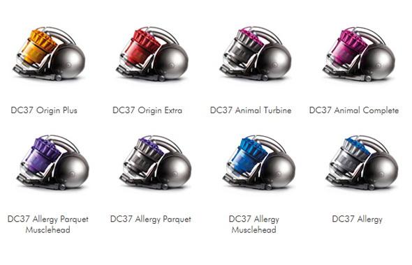 Вся линейка Dyson DC37.